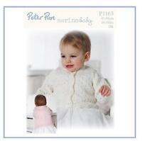 Wendy Peter Pan Girls Lacy Cardigan Merino Baby DK Knitting Pattern P1163