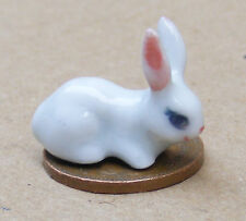 1:12 Scale White Ceramic Rabbit Garden Pet Tumdee Dolls House Miniature B