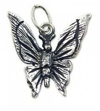 DN33 - 1 Bright Sterling Silver Lovely Butterfly Charm