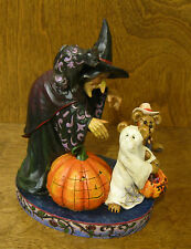 Boyds Jim Shore Bearstone #4016472 ELSA WITCHINGTON & SALEM.... Halloween NIB