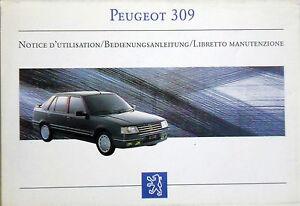 Bedienungsanleitung PEUGEOT 309 - Artikelnummer DCM 4263