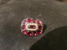 Garnet Brooch/Pin Vintage Fine Jewellery (Pre-1837)