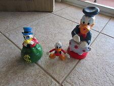 Disney Vintage Donald Duck x3 Figurines & Banks Different Pieces 1950-?