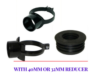 BOSS STRAP PUSH FIT PLASTIC SOIL PIPE 110 X 63 40MM OR 32MM REDUCER