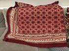 90' x 90' Square Saffron Marigold Brand Tablecloth Cotton Rustic Red Burgundy