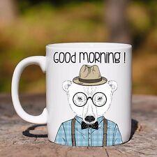 Tazza ceramica ORSO POLARE GOOD MORNING ANIMAL HIPSTER ceramic mug