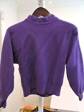 Carriage Court Lambswool & Angora Blend Purple Mock Turtleneck Sweater - Size-L