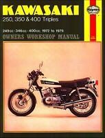Kawasaki S1, S2, S3, KH250, KH400 Repair Manual 1972-1979