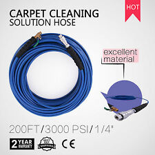 "60M CARPET CLEANING SOLUTION HOSE 1/4"" STEEL BRAIDED HIGH PRESSURE GOOD"