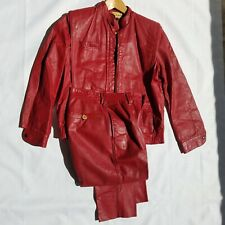 VINTAGE METROSTYLE TWO PIECE PANTS SUIT RED SIZE 8 (Runs small)