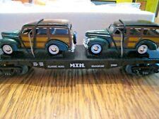 MTH 30-7662  -  AUTO TRANSPORT FLATCAR WITH ERTL '40 WOODY WAGONS   (pk21)