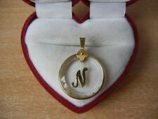 3.4 g Wonderful beautiful Nice Modern Vintage pendant Glass Gold 750 stamp