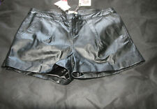 Love Label Black Leather Shorts, zip fastening, BNWT
