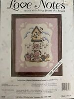 JCA Love Notes LOVE NEST Counted Cross Stitch Kit With Mat #08308 NIP