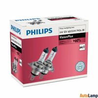 PHILIPS H4 VisionPlus Car Headlight Bulb 12V 60/55W P43t-38 12342VPC2 Twin