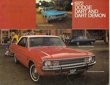 Dodge Dart 1972 USA Market Foldout Sales Brochure Demon 340 Swinger Custom