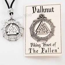Valknut Viking Necklace amulet Odin Norse God Pendant bin in our store
