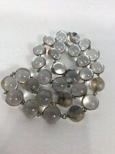 Beautiful Vtg Victorian Brass Rock Crystal Pool Of light Necklace