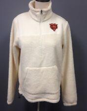 NFL TEAM APPAREL Ivory Front Pocket Zip Collar Chicago Team Pullover Sz M FF2964