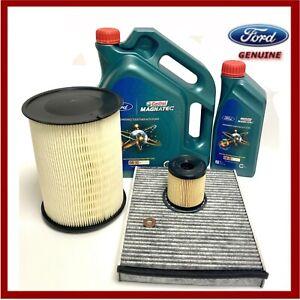 Genuine Ford Kuga 2.0 TDCi Service Kit Oil Air Cabin Filters & 6L Oil 2342368