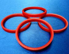 (T12-SR641P) 4 Stück  Zentrierringe 72,0 / 64,1 mm  dunkelrot  für Alufelgen