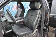 FORD F-150 2009-2014 IGGEE S.LEATHER CUSTOM FIT SEAT COVER 13 COLORS AVAILABLE