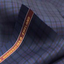 Navy With Black Pink Check 3.5 Meters Suiting Jacketing Fabric