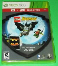 Lego Batman Silver Shield Combo Pack Xbox 360 Game+Movie! New-Sealed-Free Ship!