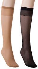 Ladies Fine Knee-high Stockings 30 Pair Tights 20 Den Knee Socks Sheen Make up