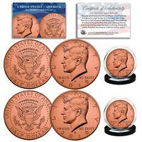 Genuine ROSE GOLD PLATED 2019 JFK Kennedy Half Dollar 2-Coin Set BOTH P & D MINT
