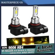 2* 9006 HB4 LED Fog Lights Conversion Bulbs Lamp Kit 80W 3000K Yellow Error Free