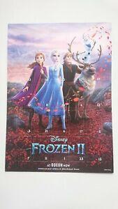 Frozen II (2) ODEON Disney Movie Advent Calendar Poster Anna ELSA Olaf