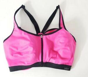 Victoria's Secret Sports Bra 34DDD VSX Sport Front Closure Pink Underwire