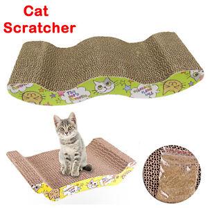 Cat Cardboard Corrugated Scratcher Scratching Pad Sofa Bed Board Mat Furniture