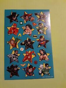 DC comics super heroes sticker sheet (free ship $20 min)