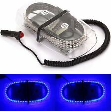 240 LED 12V Car Strobe Warning Lamp Emergency Magnetic Hazard Beacon Light Blue