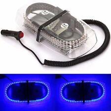 240 LED 12V Car Strobe Warning Lamp Emergency Magnetic Hazard Beacon Light Blue