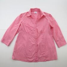 MOTHERHOOD MATERNITY 3/4 SLEEVE PINK BUTTON UP WOMEN'S SIZE SMALL