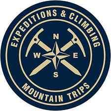 "Expedition Climbing Mountain Camping Car Bumper Window Sticker Decal 4.5""X4.5"""