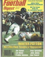 1977 NOV Football Digest magazine, Walter Payton Chicago Bears EXMT NO LABEL