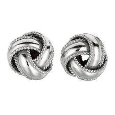 Sterling Silver Love Knot LoveKnot Rope Stud Earrings 8mm Push Back New RHO