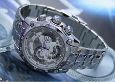 New w/Box Authentic Casio Edifice White EF-550-D7AV Stainless Steel Wrist Watch