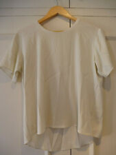 'Theyskens' Theory silk blend T-shirt LARGE off-white
