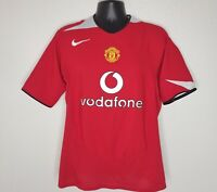Nike 90 Mens Large Manchester United FC Football S/S Soccer Jersey 2006 Red
