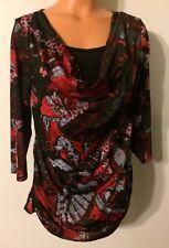 • Women's Three Seasons Maternity Size Large Blouse SS Babydoll Stretch Shirt