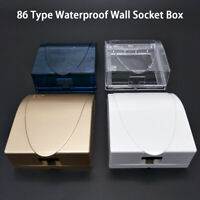 Waterproof 86 Type Transparent Wall Plug Socket Plate Panel Switch Box Protector