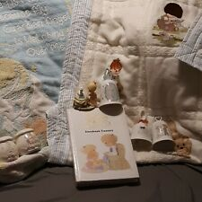Precious Moments, blanket quilt, small water globe, 3 bells, storybook, etc.