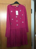 Girls Dress From John Lewis Pretty Design Jewel STAR Soft Jersey Age 11 Pink