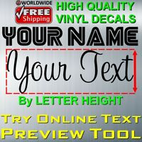 PERSONALIZED CUSTOM TEXT NAME NUMBER VINYL DECAL STICKER CAR WALL WINDOW DECOR