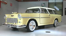 G LGB 1:24 Modelo a escala 1955 Chevy Chevrolet Bel Aire Nómada Techo Rígido